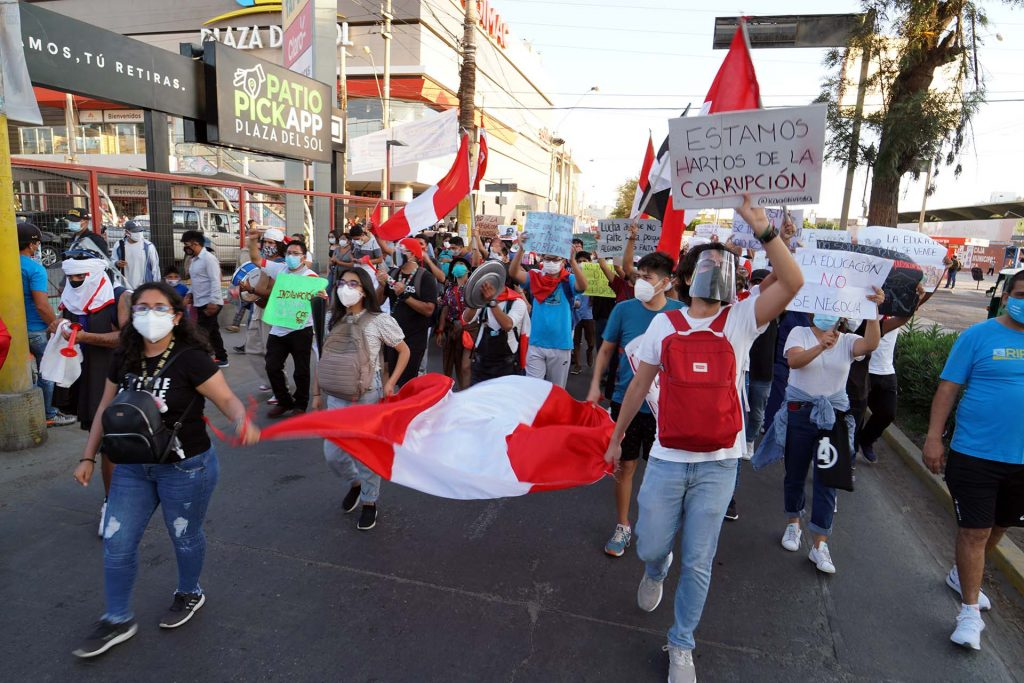 Ica se plegó a la nueva jornada nacional en rechazo al Gobierno transitorio